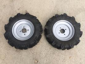 4.00-10 Chevron tyres on 4x100 rims . Set if four
