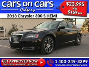 2013 Chrysler 300 S HEMI w/Leather, PanoRoof, Navi $169 B/W INST