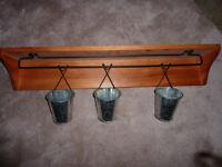 Oak Shelf with Baskets and hooks Saint John New Brunswick Preview