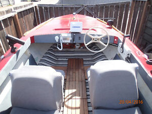 14 Ft Boat with 70HP Evinrude Motor