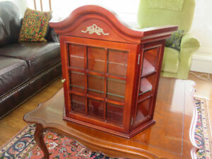 Solid Wood Wall Curio Cabinet