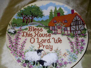 1/2 Price $5.00 Collector plate  Bless this house O Lord we pray
