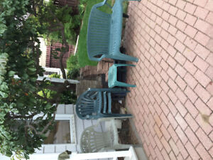 Patio chairs $10 for allReduced to $5.