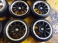 """17"""" ALLOY WHEELS ASTRA, CORSA, CLIO, MAGANE, CIVIC, FIESTA, FOCUS SET OF 4 MINT CONDITION"""
