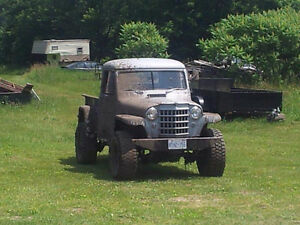 1951 willys pickup 4x4 please read entire ad