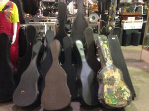 Guitar Cases Vintage $10-$30, over 15 cases, gr8 4 movie props