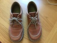Josef Siegel ladies leather shoes, size 39/6. Almost new. Brown.