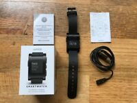 **Boxed As New Pebble Smartwatch For iOS/Android - Black**