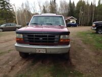 1995 Ford pick up with diamond plow