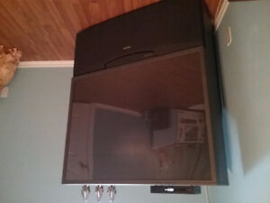Projector TV 48 inch wide x 48 height.