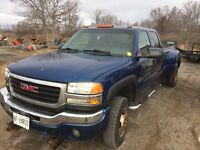 2003 gmc 3500 duramax 6speed manual plow and sander!!