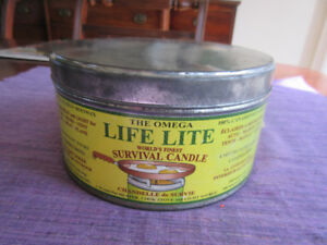 Wonderful vintage tin - Omega Life Lite Survival Candle