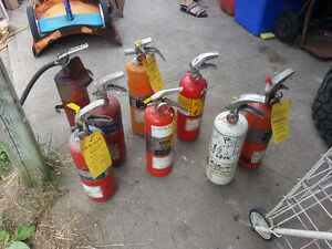 FIRE EXTINGUISHERS, 8 AVAILABLE , MOST WITH FULL CHARGE Kitchener / Waterloo Kitchener Area image 1