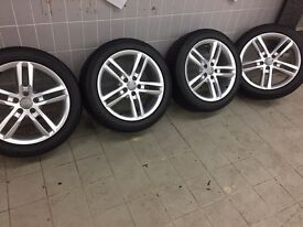 """Genuine 18""""Audi alloy wheels and tyres"""