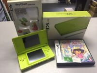 Green Nintendo ds lite boxed with game