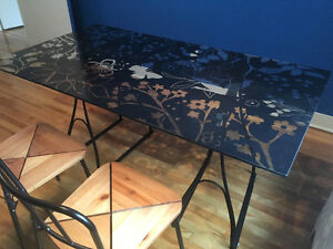 IKEA glass table and chairs