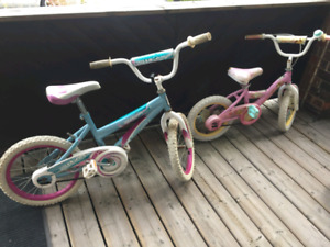 18 inch and 12 inch bicycles $30 each