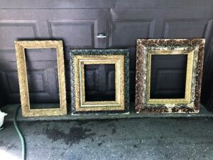 3 ANTIQUE WOODEN FRAMES
