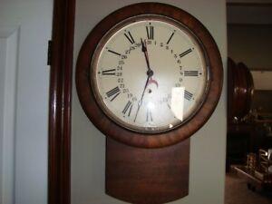 VINTAGE EARLY 1900'S SETH THOMAS BRADFORD WALL CLOCK