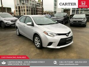 2014 Toyota Corolla LE + Local + MANAGERS SPECIAL!