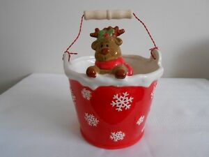 Ceramic Reindeer Bucket