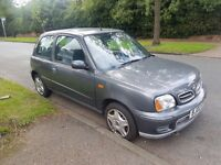 2002 Nissan Micra, 1 owner, 2 keys, low mileage 76000