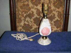 VINTAGE MARBLE ART DECO STYLE TABLE LAMP-UNIQUE-1960/70S