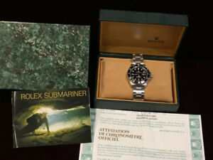 ROLEX SUBMARINER 16610 STAINLESS BOX , PAPERS 40MM (VENDU-SOLD).