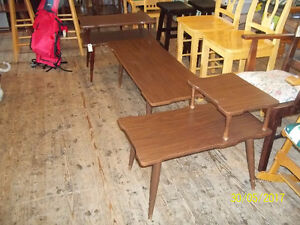 Three Piece Coffee Table Set including Two End Tables