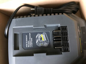 Brand New box of 40 volt lithium battery with charger.