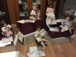 Various ceramic dolls
