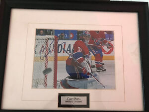 Signed Montreal Canadiens Carey Price Framed Picture