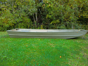 14' jon boat with motor and trailer