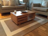 Habitat oak coffee table & side board/media unit