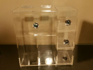 Acrylic Cosmetic Organizer with Crystal Knobs