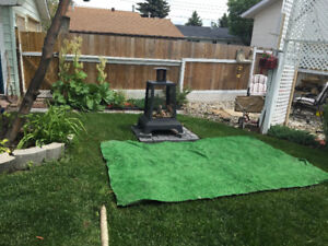 Firepit with 6x9 rug.
