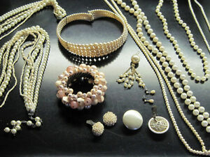 Beautiful Wedding Vintage & New Pearl & Assorted Jewellery