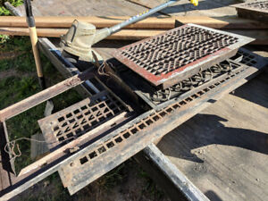 ANTIQUE STEEL REGISTER GRATES FROM 114 YEAR OLD HOUSE