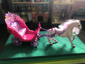Barbie horse and carriage