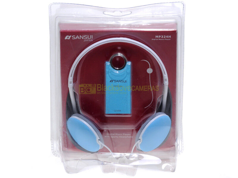 Sansui MP32H Digital Music Player. Nuovo. Mp3 con cuffie e scheda micro SD 4Gb.