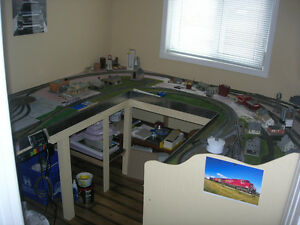 Extensive H.O. Scale Train Set