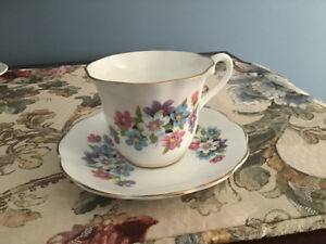 Victoria china cup and saucer