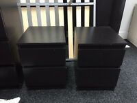 Dbl bed chest of drawers and 2 side units for sale 120 quick sale