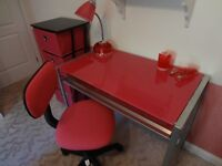 Student Desk, Chair, Storage Unit and Accessories