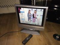 "Tecknika 15"" Tvs free view DVD"