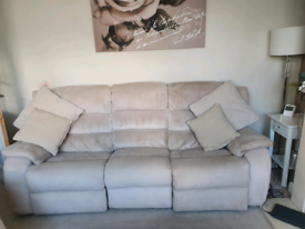 3+2 Seater fabric electric fully reclining sofas