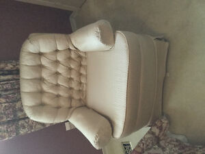 Off white swivel rocker chair