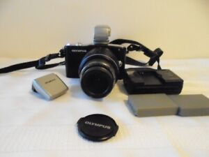 olympus pen e-pm1 camera  with  Vf-3 Electronic Viewfinder