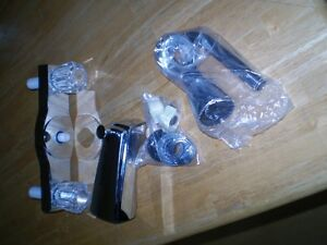 Washerless Tub/Shower Taps - Older Style Twin Controls- New