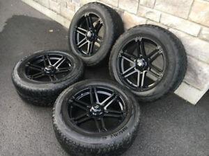 4 Mags Rtx Offroad 20'' noir pour Ford F150 avec pneu hiver Toyo